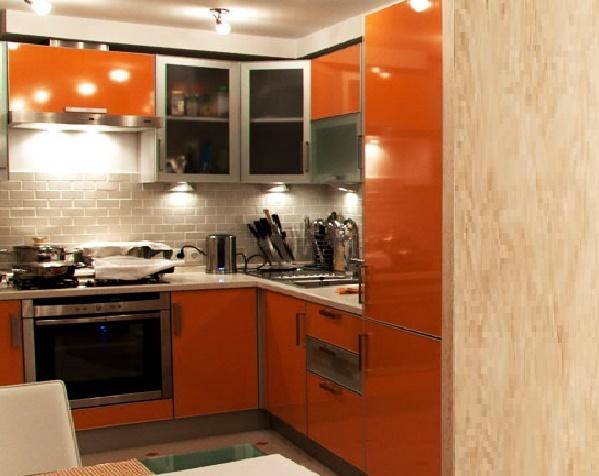 планировка малогабаритной кухни с гостиной в стиле модерн