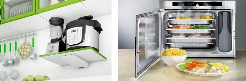 как разместить пароварку на кухне
