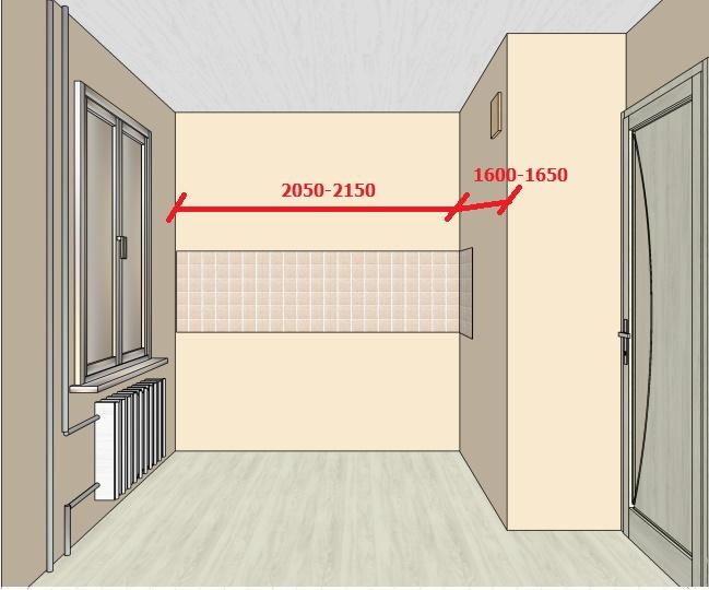 чертеж планировки маленькой кухни-хрущевки