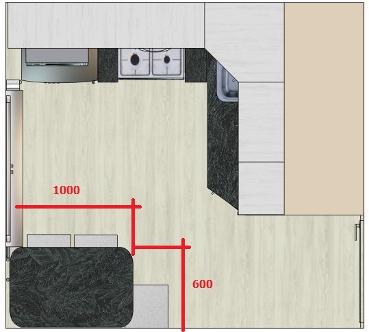 кухонный стол для маленькой угловой кухни чертежи