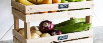 Хранение овощей на кухне: идеи и варианты стеллажей, ящиков, корзин и других систем хранения