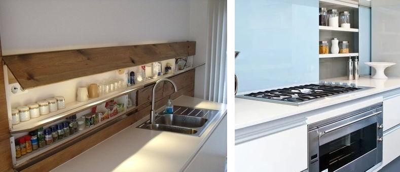 система хранения специй в фартуке кухни