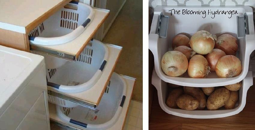 как хранить овощи на кухне
