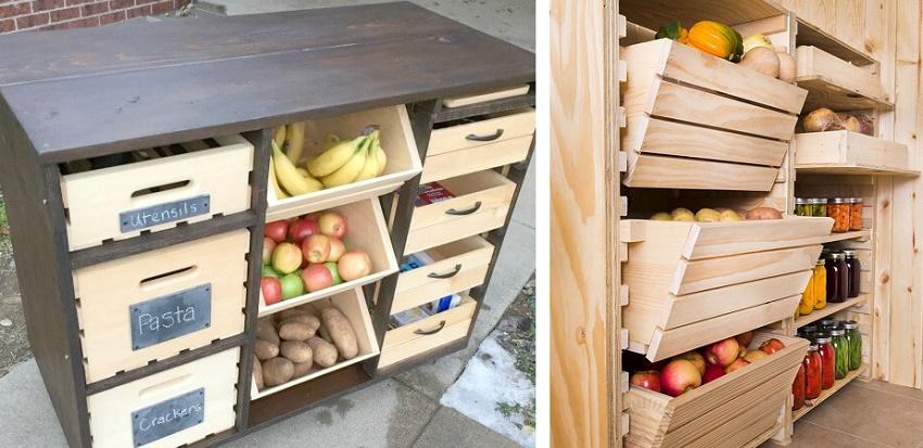 комоды и тумбы для хранения овощей своими руками