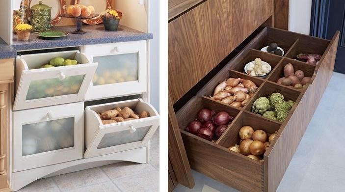 кухонный шкаф для хранения овощей