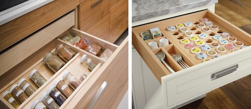 ящики для хранения специй на кухне