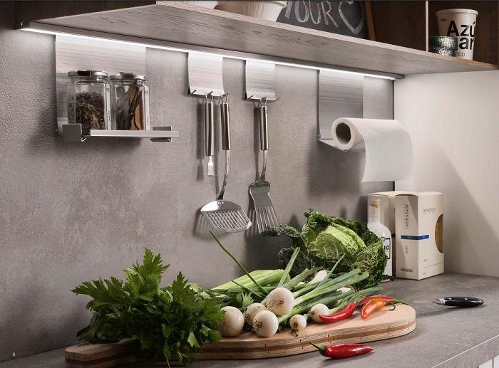 навесные рейлинги для фартука кухни Easy LED