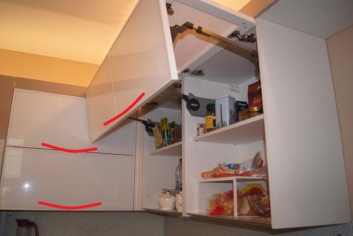 ошибки при планирования открывания кухонных шкафов