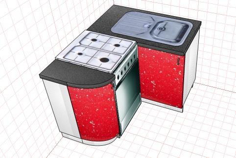 ошибки при расстановке кухонных модулей в онлайн-конструкторе