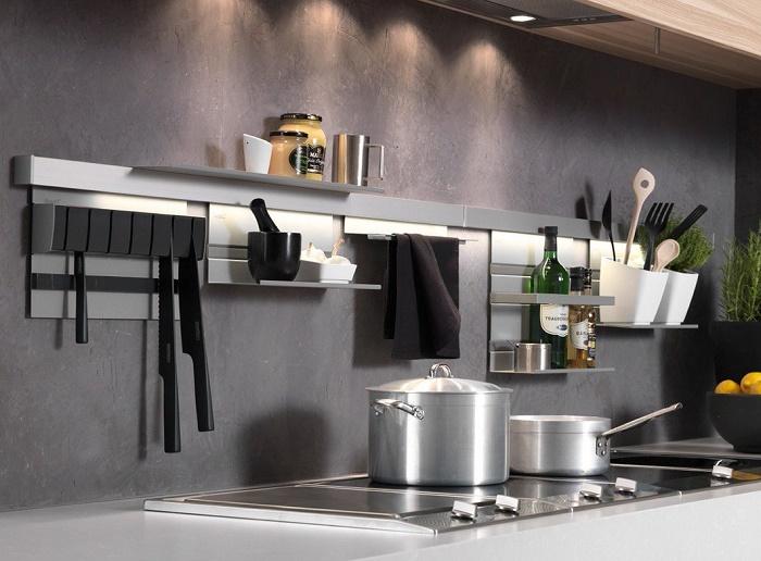 кухонные рейлинговые системы с подсветкой