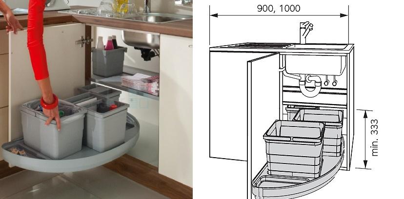 волшебный уголок для кухни под мойку