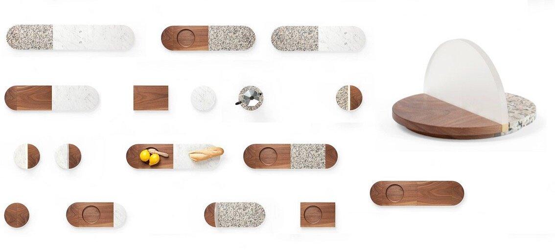 сервировочные доски All of a Piece на кухонных магнитах