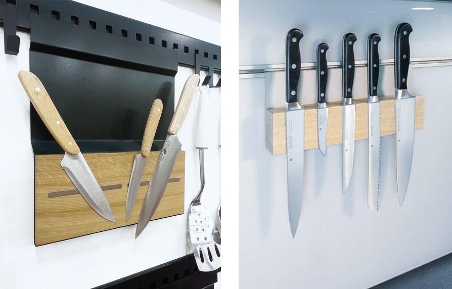 магнитные держатели для ножей на рейлинге