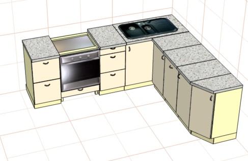 проектирование кухни в pro100